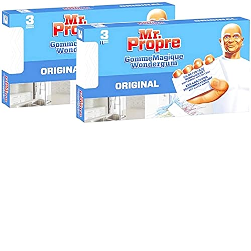 6 spugne magiche gomme detergenti originali Mr Propre
