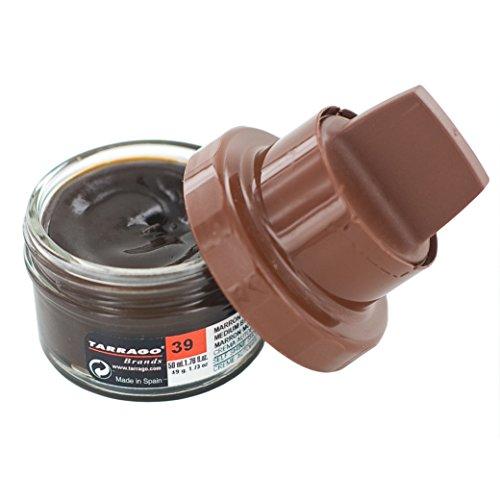 Tarrago Unisex, per Adulti, 50 ml, per Scarpe, trattamenti Shine & Lucidi, Marrone (Brown (Medium Brown 39)), M-L