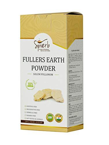 Spierb Fullers Earth Polvere   argilla curativa indiana Bentonite Clay Multani Mitti Mud Powder per viso e corpo Polvere di argilla Multani pura 100% naturale senza prodotti chimici