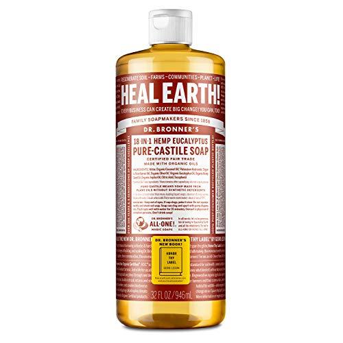 Dr Bronner 946 ml di eucalipto biologico Castiglia sapone liquido