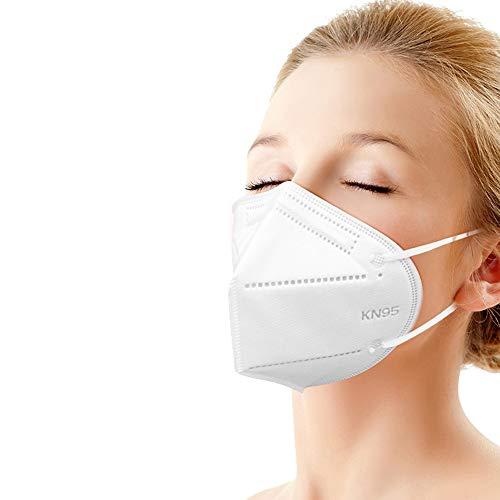 Katomi 10 pezzi di Facciale protettiva personale a 5 strati, nasello regolabile