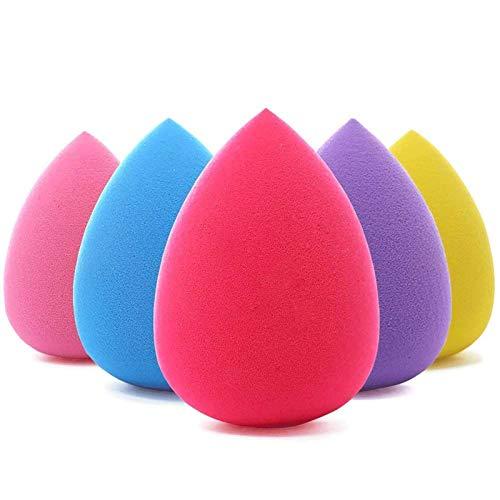 BEAKEY 5 pz Set di trucco spugna Blender beauty, fondotinta spugnetta, ottimo per liquidi, creme e polveri, multi colore trucco spugne
