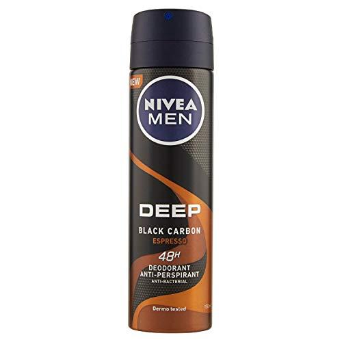 NIVEA Men Deep Black Carbon Espresso Deodorante Spray 150 ml