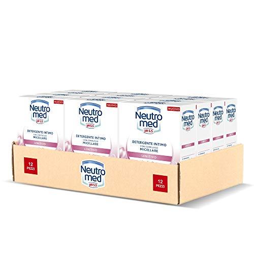 Neutromed Detergente Intimo Lenitivo, con Complesso Micellare, Azione Emolliente, pH 5.5, 12 Pezzi x 200 ml