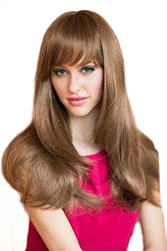 Parrucca marrone chiaro in Razor Cut, Face framing Style: Lora