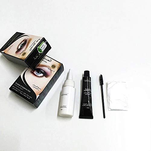 BUIDI Ciglia universali Sopracciglia Barba Baffi Tintura per Capelli Pasta Tinta Kit Mascara Permanente Ciglia Ciglia Pettine Set di pennelli Maschile Femmina Strumenti di Bellezza Mascara Nero