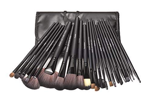 KanCai® 24 pezzi Pennelli trucco corredo cosmetico professionale Make Up Set con del sacchetto Case nero