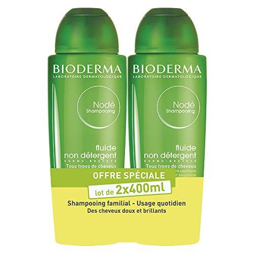 Nodé Fluido – Set di 2 x 400 ml | Pulisce delicatamente – Ridona lucentezza e morbidezza ai capelli | tutti i tipi di capelli