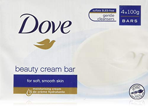 Dove Original Beauty Bar - Saponette con detergenti delicati, 1/4 di crema idratante, 6 Confezioni da 4 Pezzi