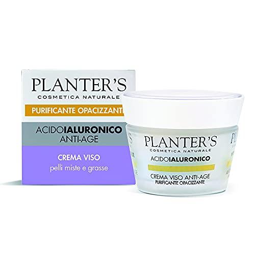 Planter's - Crema Viso Anti-age Purificante Opacizzante all'Acido Ialuronico. 50 ml
