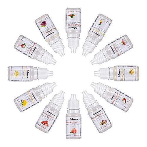 LOVOICE 12 Fragranze-Lip Gloss Aromatizzante Essence Rossetto Colorante per Lip Gloss Fai da Te