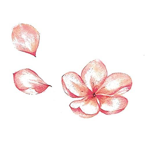 5 fogli adesivi tatuaggio fiore di ciliegio antico fiore adesivi tatuaggio polso polso clavicola fresca di lunga durata sexy fiore di pesco