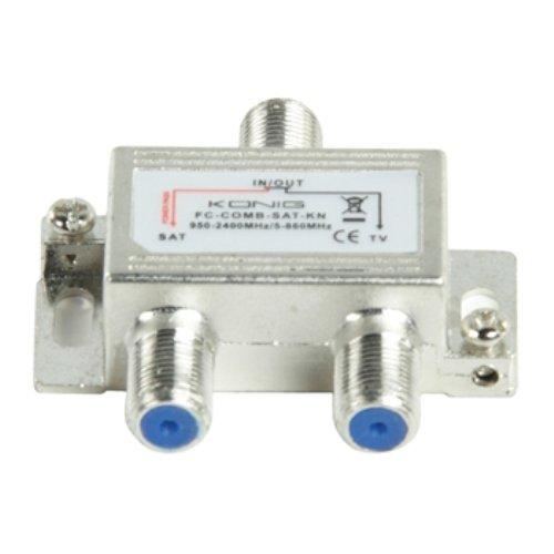 Konig FC-COMB-SAT-KN Miscelatore SAT/UHF/VHF, Acciaio