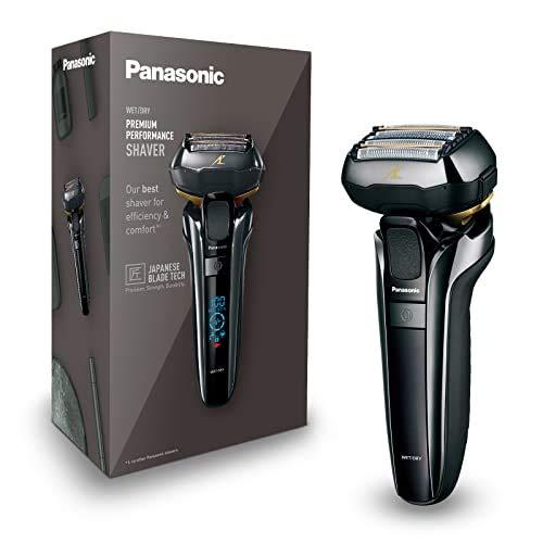 Panasonic Rasoio Premium ES-LV6Q con 5 lame, rasoio a secco e a umido con testina flessibile 3D e rifinitore per barba pieghevole