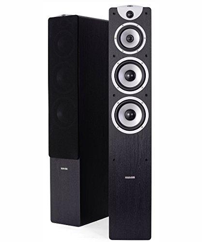 Dynavoice Magic F-7 EX v3 Black - Coppia Diffusori Acustici da Pavimento 3 Vie Bass Reflex per Hi-Fi e Home Cinema. Cabinet in legno MDF con finitura venato legno.