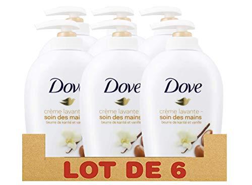 Dove - Sapone liquido Karité e vaniglia, 250 ml, confezione da 6