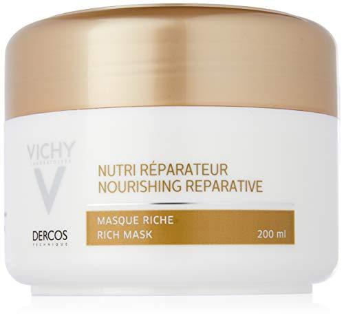 Dercos Maschera ricca nutri-riparatrice di Vichy, Maschera capelli Unisex - Vasetto 200 ml