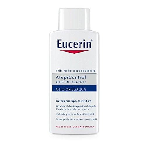 Eucerin Atopicontrol Olio Detergente 20% Omega, Pelle Molto Secca Atopica - 400 ml