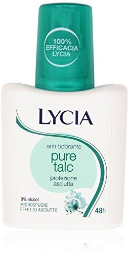 Lycia - Anti Odorante Pure Talc, Protezione Asciutta - 75 ml