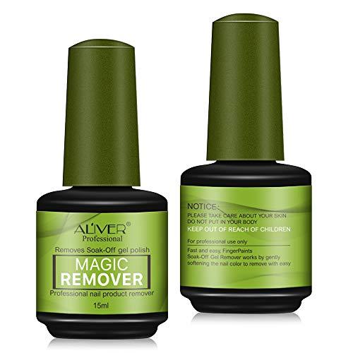 Rimuovi-smalto Magic Remover, gel UV per unghie, primer acrilico per nail art, 15 ml, 2 pezzi