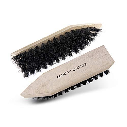 Spazzola in crine semirigida per la pulizia a secco di scarpe in camoscio, nabuk, tela e pelle liscia