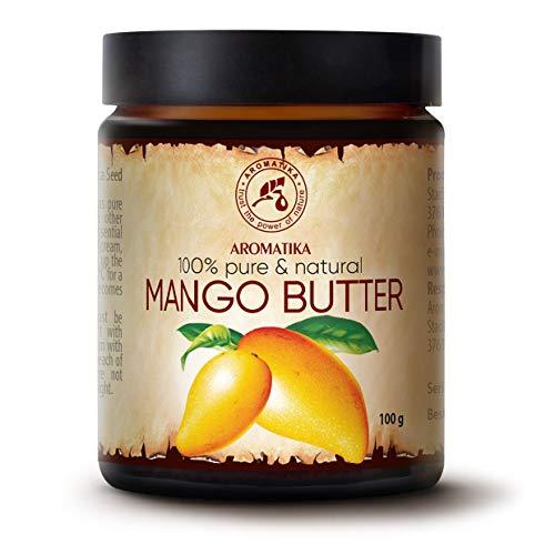 Burro di Mango 100g - Mangifera Indica - Indonesia - Naturale e Puro al 100% - Raffinato - Cura Intensiva per il Corpo - Capelli e Pelle - Cura delle Unghie - Mani - Labbra - Massaggi - Cosmetici