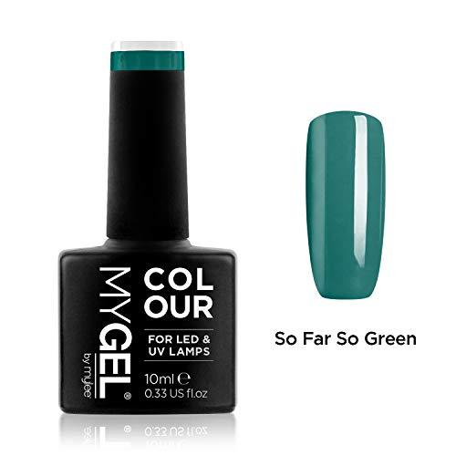 Smalto MyGel, da MYLEE (10ml) MG0061 - So Far So Green UV / LED Nail Art Manicure Pedicure per uso professionale in soggiorno ea casa - Lunga durata e facile applicazione