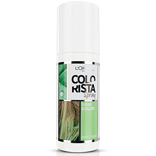 L'Oréal Paris Colorista Spray 1-Day Color Colorazione Temporanea un Giorno, Menta (Mint)