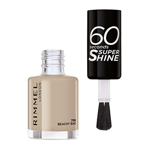 Rimmel Smalto Per Unghie 60 Seconds Super Shine Colour Block 706 Beachy Bae - 8 Ml