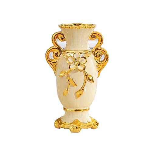 Vaso, in Stile Europeo Vintage Ceramica Grande Vaso di Fiori Soggiorno Tavolo da Pranzo Centro Tatuaggi Camera Ufficio Hotel Decorazione Domestica Dipinta A Mano Alto Vaso Decorativo, 15x25cm