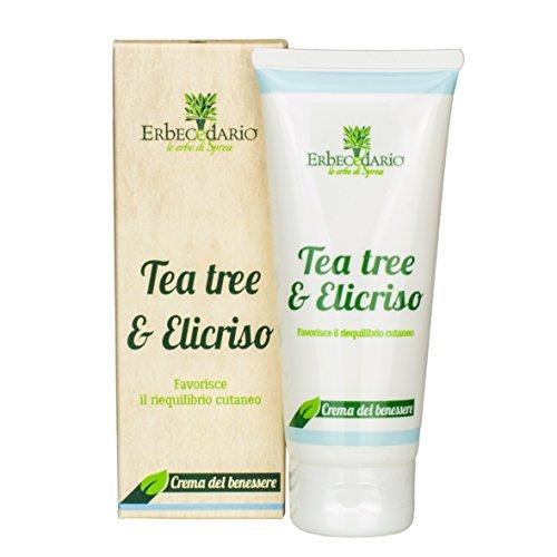 Crema Tea Tree & Elicriso Erbecedario, Per Pelle Arrossata, Desquamata, Crema Dermoattiva Per Pelle Molto Secca, 1 Tubo 100ml