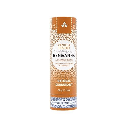 Ben&Anna Natural Soda Deodorante - 100% Alluminio Free Deodorante Cruelty Free Vegan NATRUE Certificato con Burro di Karitè biologico e Bicarbonato di Soda Made in Germany - Vanilla Orchid - 60g