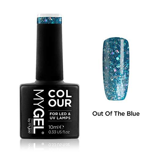 Smalto MyGel, da MYLEE (10ml) MG0093 - Out Of The Blue UV / LED Nail Art Manicure Pedicure per uso professionale in soggiorno ea casa - Lunga durata e facile applicazione