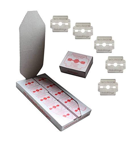 Solingen, lame di ricambio per tagliacalii, in acciaio inox, antiruggine, confezione singola, 100 pezzi