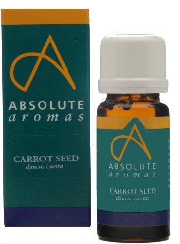 Absolute Aromas Olio Essenziale di Semi di Carota (Daucus carota) 10 ml - 100% Puro, Naturale, Non Diluito, Vegano e Cruelty Free - Per Uso in Diffusori e Miscele per Aromaterapia