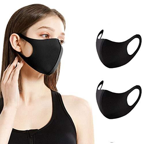 Sb Components - Maschera anti-polvere per viso e bocca, riutilizzabile, lavabile, unisex, anti-inquinamento, 2 pezzi