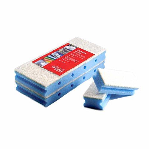 Orlandi spa 10 Spugne Spongex Multicolor Fibra Abrasiva AntiGraffio per l'Igiene e la Pulizia (Rosa)