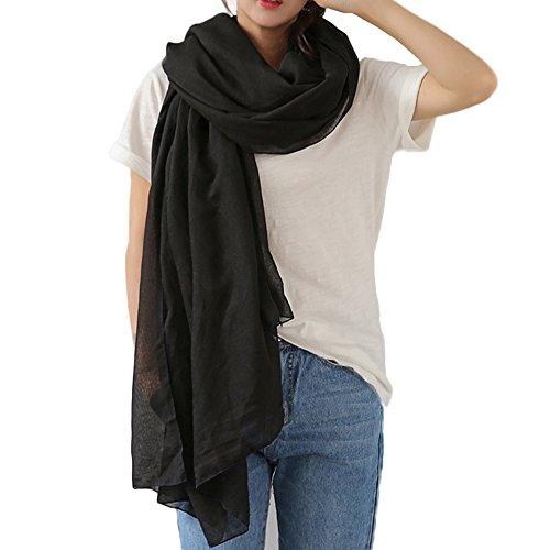 WKTRSM Sciarpa Cotone Donna Stola Scialle Morbido Sciarpa Inverno Grande Sciarpe Donna per Autunno e Inverno 180 * 145cm