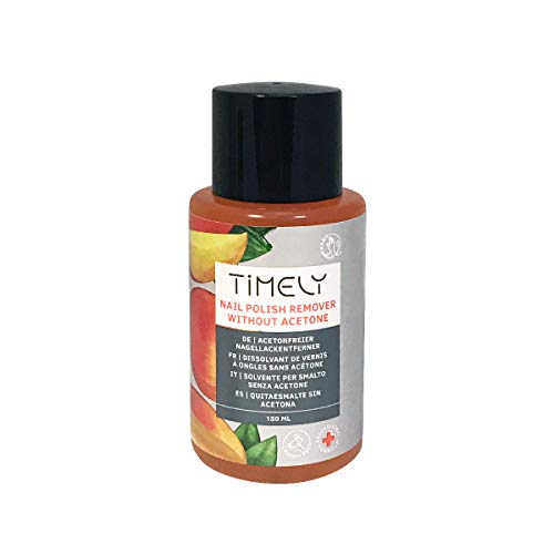 Timely, solvente per unghie senza acetone, con vitamine E e A e proteine della seta, formato piccolo, 150 ml