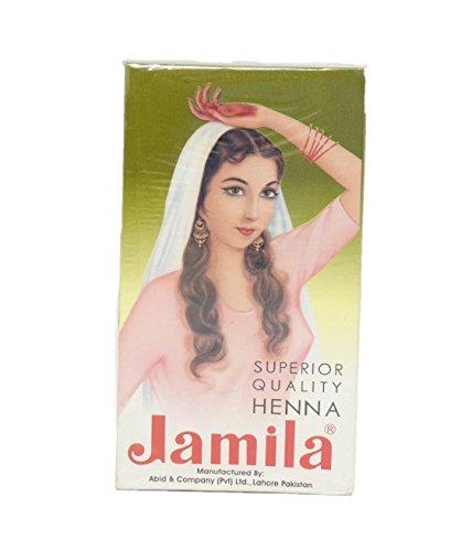 JAMILA - Hennè 100% Naturale Rosso Freddo Intenso - 100% Lawsonia Pakistan - Polvere Molto Fine - 100 gr