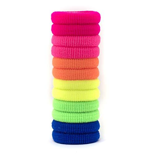 Elastici per capelli colorati piccoli, 12 pezzi resistenti, colori vivaci per bambine