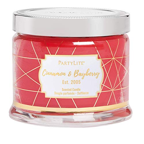 PartyLite - Candela a 3 stoppini, Cannella & Laurier