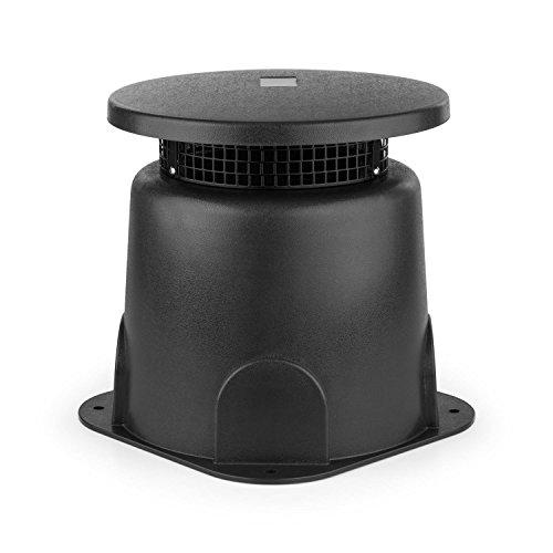 oneConcept GS 665 Outdoor Cassa Altoparlante A Banda Larga da Giardino (30 Watt, Suono surroundsound a 360¡, alloggiamento ABS, protezione acqua) grigio scuro