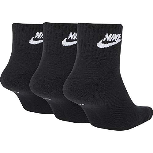 Nike Everyday Essential Calzini corti Adulto Unisex,Black Or Grey,S