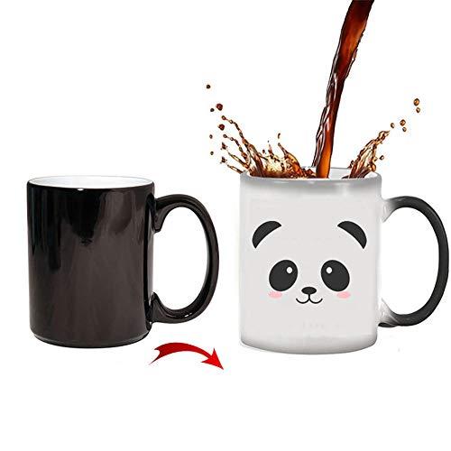 YDGHD - Tazza in ceramica per cambiare il calore, con motivo panda che cambia il calore, 311,8 g, sensibile al calore, colore che cambia il colore, simpatico regalo di Natale per donne(Panda)
