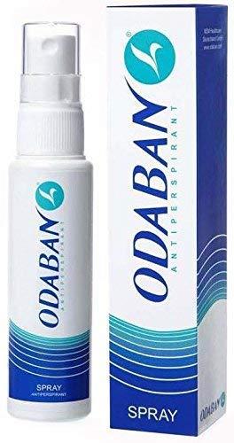 ODABAN Antitraspirante Deodorante Antitraspirante Ascelle Eccessiva Sudorazione Trattamento di Iperidrosi Forza di Prescrizione Anti Sudorazione Spray Assorbenti Ascellari, 2 x 30 ml