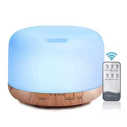 Decdeal 500ml Umidificatore ad Ultrasuoni Olio Essenziale Diffusore Lampada Aromaterapia Aroma Diffusore Mist Maker