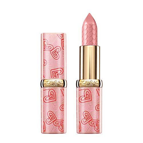 L'Oréal Paris MakeUp Edizione Limitata 2021 Je T'Aime Color Riche, Rossetto Color Riche con Cuori in Rilievo, Colore Pieno, Finish Satinato, 235 Nude - 200 g