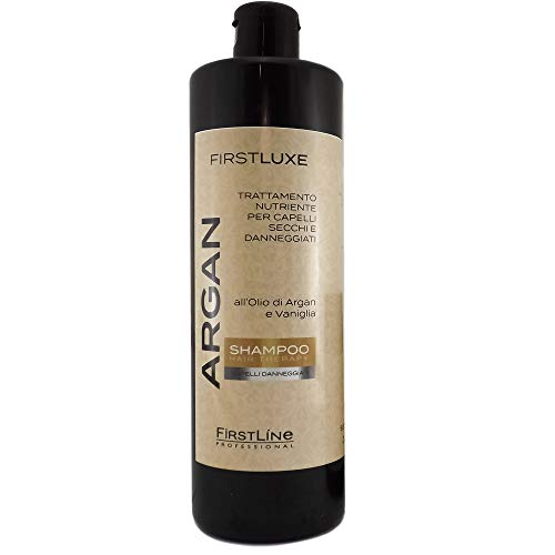 Shampoo o Maschera Argan E Vaniglia Capelli Danneggiati ARGAN Firstline Professionale (Shampoo Argan 2568)