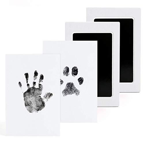 Impronta Mani e Piedi Neonati,Impronte Neonato,Impronta Cane-L'inchiostro non Tocca mai la Pelle del Bambino